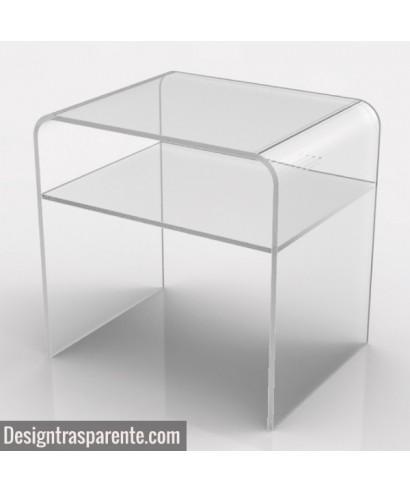 Richiedi un tavolino da salotto con ripiano in plexiglass trasparente su misura