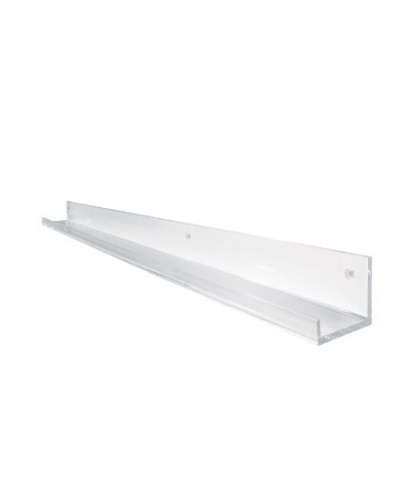 Clear acrylic shelf key storage 15x10