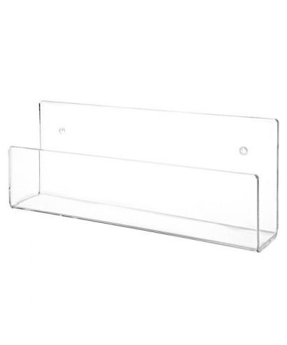 Mensola cm 70x10 per libri e cataloghi in plexiglass trasparente
