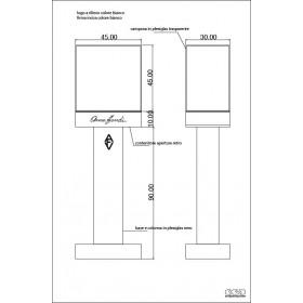 N. 4 colonne Fendi espositori in plexiglass perosnalizzato