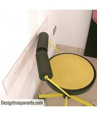Fasce paracolpi battisedia su misura in plexiglass trasparente