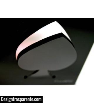 Asso di Picche - Appendiabiti in plexiglass nero
