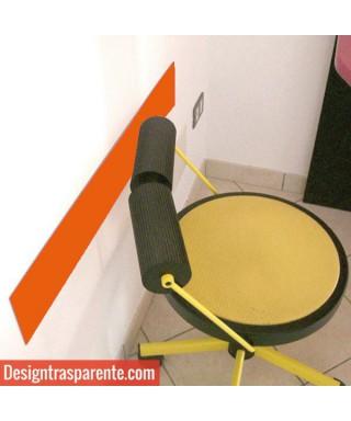 Fascia paracolpi arancione 99x10 cm in plexiglass 3mm