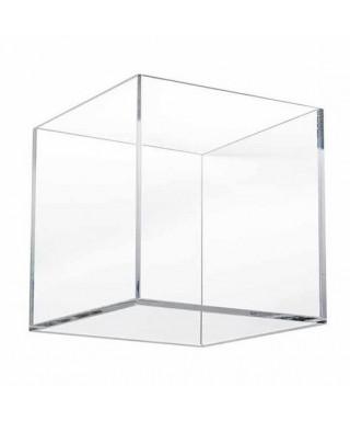 N. 5 Contenitori 34h22h15 cm senza coperchio in plexiglass trasparente