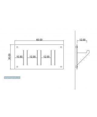 espositore cuffie in plexiglass bianco