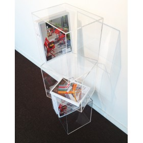 Cubo da terra 25x25h25 espositore in plexiglass trasparente
