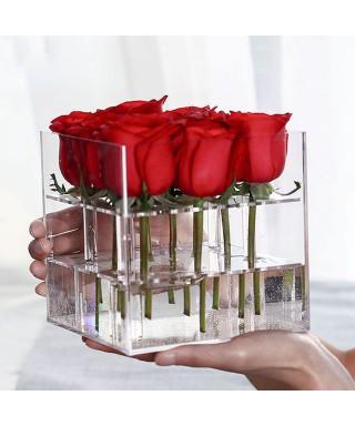N. 15 Vasi contenitori 20x20h15 cm centrotavola in plexiglass trasparente