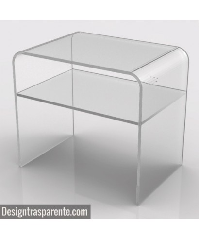 Perspex  bedside table 50x30 h:45
