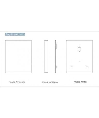Box in plexiglass 40x50