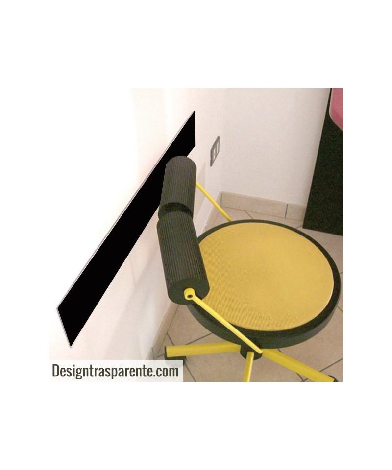 N. 18 fasce paracolpi nero 99x10 cm in plexiglass 3 mm