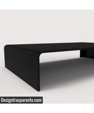 Supporto cm 35x40h10 in Plexiglass nero alzata per monitor e tv