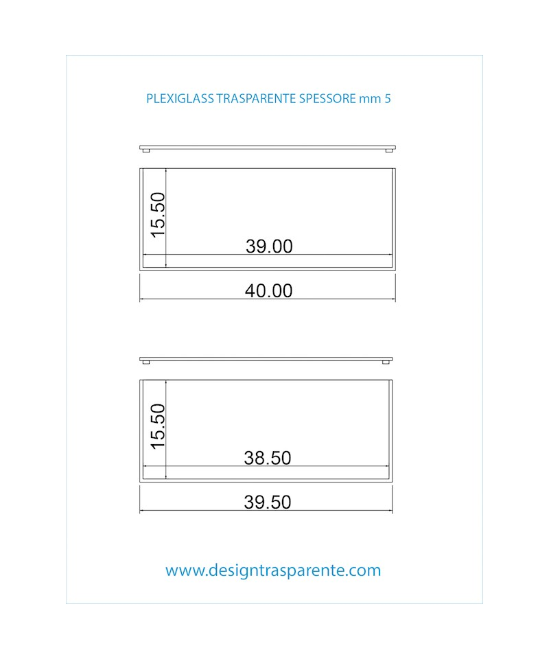 Box per Album Fotografico per Matrimoni in plexiglass trasparente