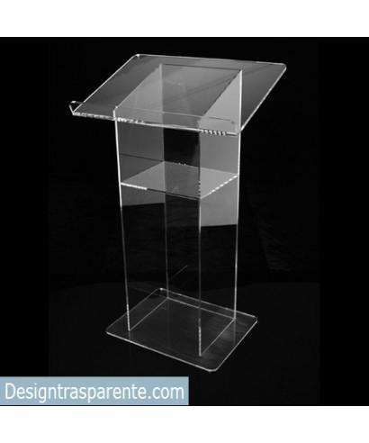 Leggio Da Terra Plexiglass.Leggio 50x40h100 Da Terra In Plexiglass Trasparente