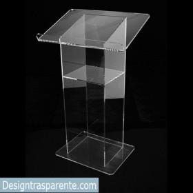 Leggio 50x40h100 da terra in plexiglass trasparente