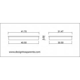 N. 3 contenitori con coperchio cm 41x31 h5 in plexiglass trasparente
