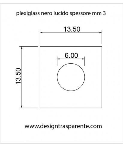 Plexiglass nero lucido taglio laser su misura