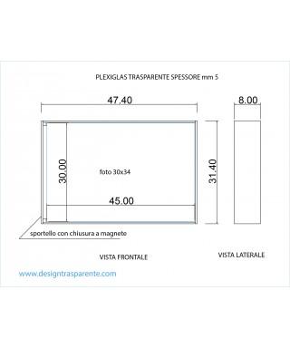 Contenitore su misura per album matrimoni in plexiglass trasparente