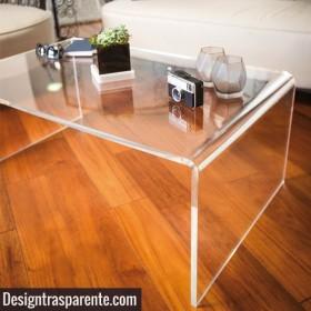 Tavolino a ponte cm 80x60 tavolo da salotto in plexiglass trasparente