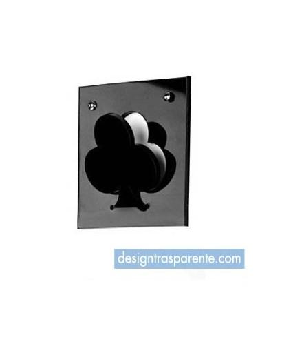 Asso di Fiori - Appendiabiti in plexiglass nero