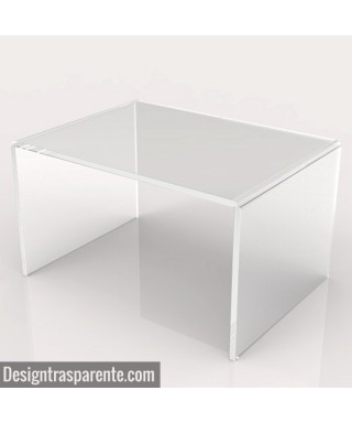 Acrylic coffee table cm 100x60 lucyte clear side table plexiglass