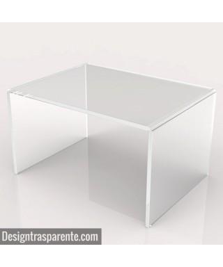 Tavolino a ponte cm 100x60 tavolo da salotto in plexiglass trasparente