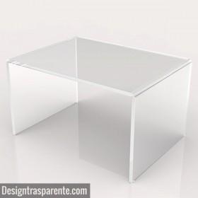 Mesa auxiliar cm 100x60 mesita baja de centro metacrilato transparente