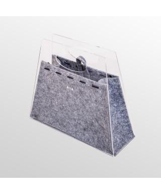 Borsetta Chicca - borsa fashion in plexiglass trasparente e tessuto colorato