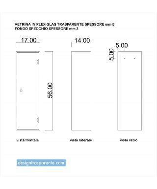 Cubo Vetrina con sportello - Su Misura in Plexiglass trasparente e specchio