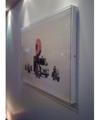 Cornice cm 20x100x5 box in plexiglass, teca per quadri