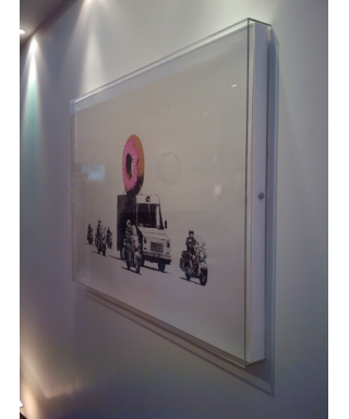 Cornice cm 20x99x5 box in plexiglass, teca per quadri