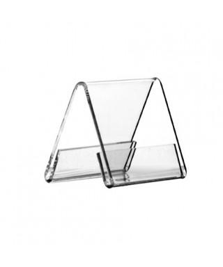 Cavaliere mm 56x48h56 tasca segnaposto in plexiglass trasparente