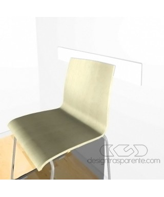 White acrylic rail chair 99 cm thickness 3 mm