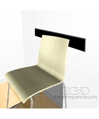 Black acrylic rail chair 99 cm thickness 3 mm