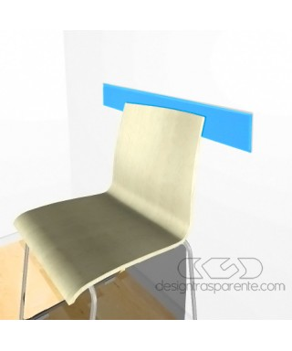 Sky-blue acrylic rail chair 99 cm thickness 3 mm