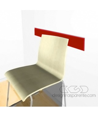 Red acrylic rail chair 99 cm thickness 3 mm