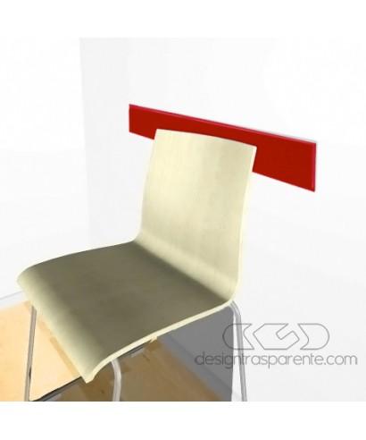 Paracolpi Sedie Ufficio.Fasce Paracolpi Rosso 99 Cm Battisedia In Plexiglass