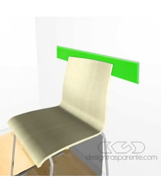 Acid Green acrylic rail chair 99 cm thickness 3 mm