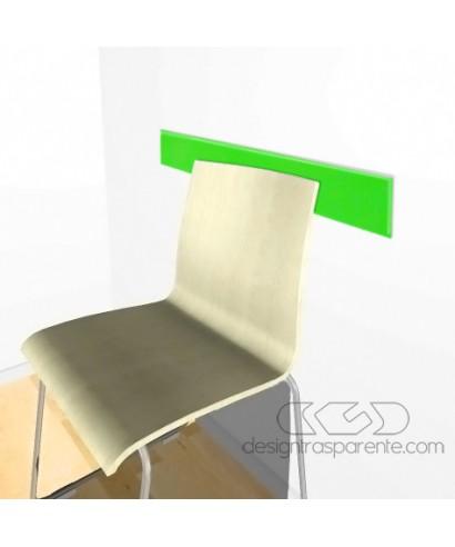 Acid green acrylic rail chair 99x10 cm thickness 3 mm