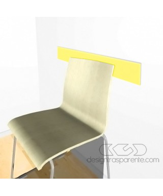 Yellow acrylic rail chair 99 cm thickness 3 mm