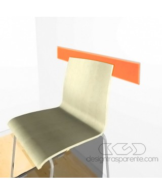 Fascia paracolpi arancione 99 cm battisedia in plexiglass