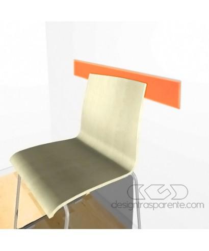 Orangeacrylic rail chair 99 cm thickness 3 mm
