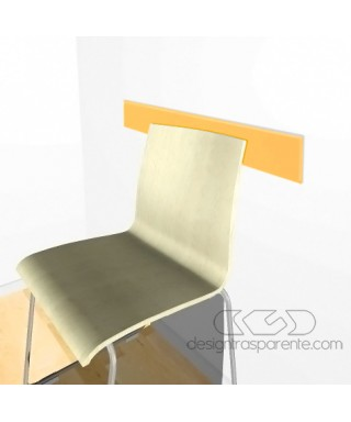 Orange acrylic rail chair 99 cm thickness 3 mm