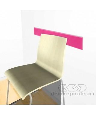 Fuchsiaacrylic rail chair 99 cm thickness 3 mm