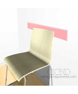 Light pink acrylic rail chair 99 cm thickness 3 mm