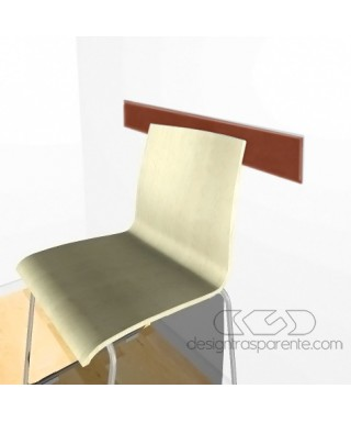 Brown acrylic rail chair 99 cm thickness 3 mm