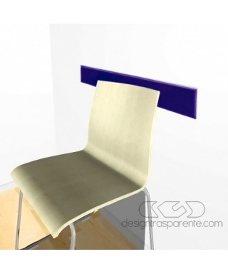 Midnight blue acrylic rail chair 99 cm thickness 3 mm