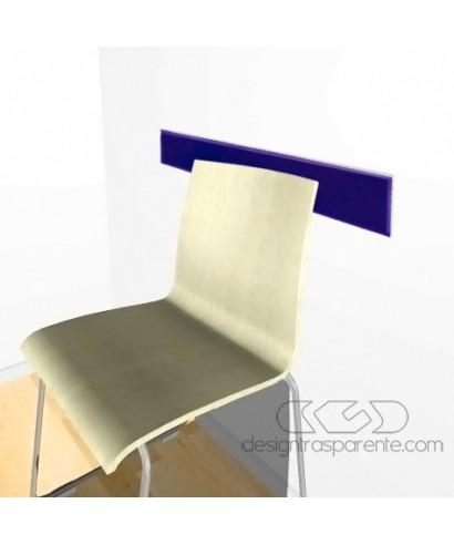 Midnight blueacrylic rail chair 99 cm thickness 3 mm