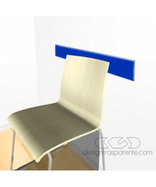 Cobalt blue acrylic rail chair 99 cm thickness 3 mm