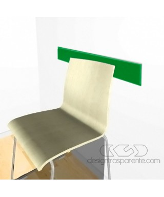Forest green acrylic rail chair 99 cm thickness 3 mm