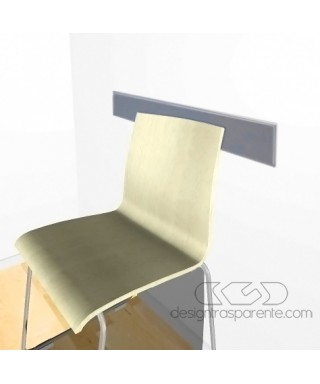 Off-gray acrylic rail chair 99 cm thickness 3 mm